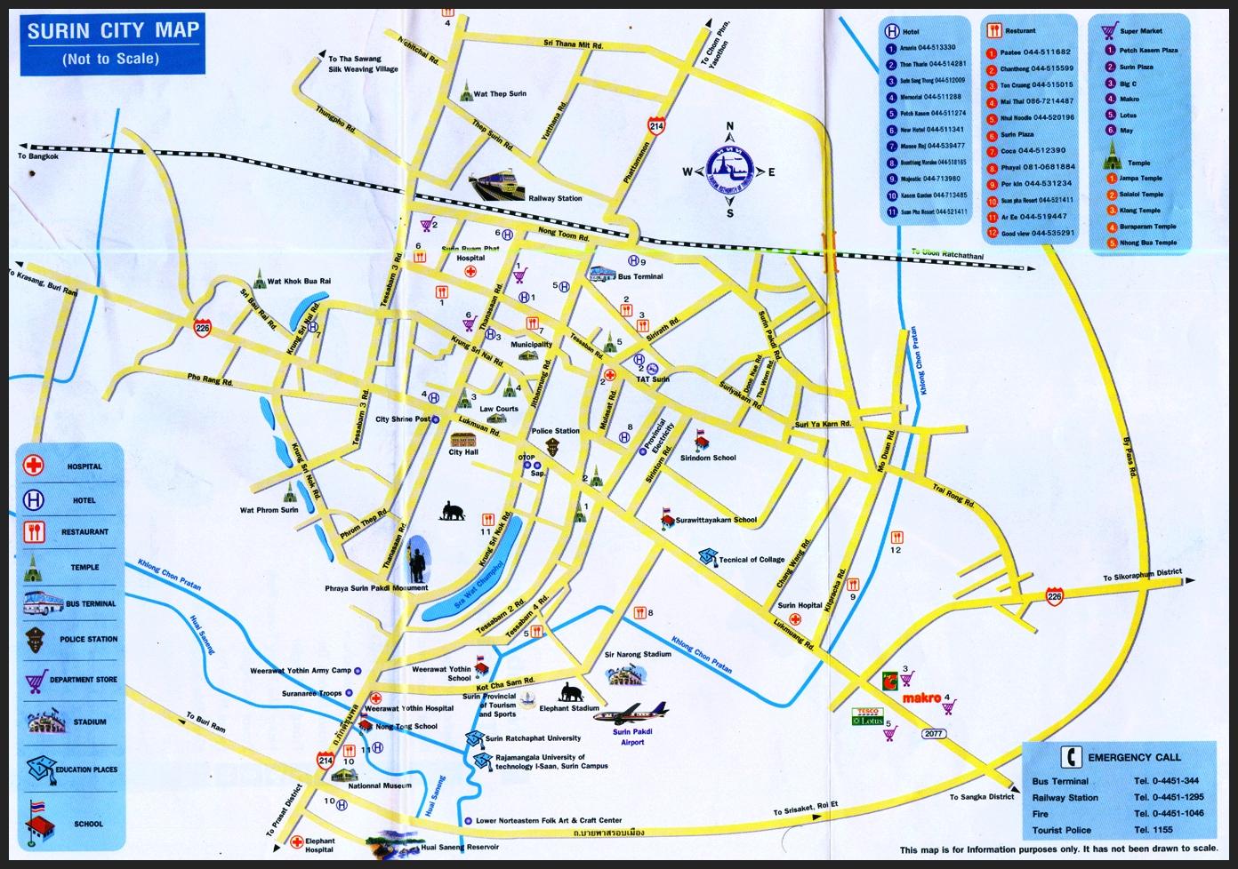 Carte Thailande Sukhothai.Sukhothai